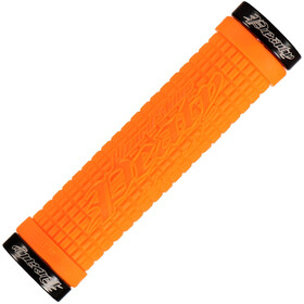 Lizard Skins Peaty Cheers Lock-On Poignées, tangerine/black